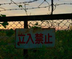 薔薇線と立入禁止